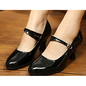 Women's Modern Shoes / Ballroom Shoes Patent Leather / PU Heel Dance Shoes Black / Gold / Red / Practice Category:Modern Shoes,Ballroom Shoes; Upper Materials:PU,Patent Leather; Style:Heel; Outsole Materials:Leather; Occasion:Practice; Listing Date:07/07/2017; Foot Length:; SizeChart1_ID:2:468; Size chart date source:Provided by Supplier.; Base Categories:Dance Shoes,Shoes,Apparel  Accessories