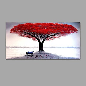 Hand-Painted Floral/Botanical Horizontal, Abstract Canvas Oil Painting Home Decoration One Panel 6009993