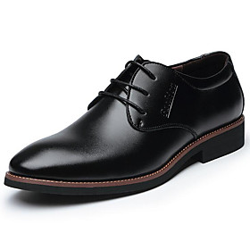 Men's Formal Shoes Leather Spring / Fall Business / Comfort Oxfords Black / Brown