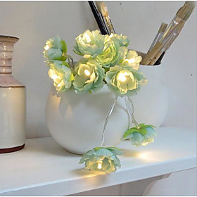 Image of 2 Meters 20 Lamp Small Silk Flowers Creative Flower Lamp String/Small Silk Flower Lantern Lamp/Wedding Decoration LED Battery Lamp Lamp