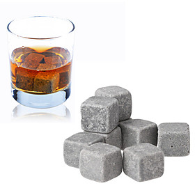 9pcs Set Whisky Stones Ice Cube Wine Champagne Rock Cooler Bar