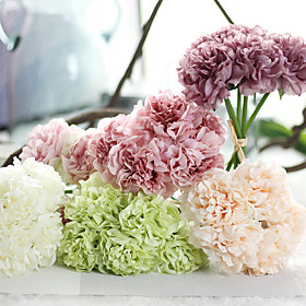 Artificial Flowers 1pcs Branch Silk Polyester Peonies Tabletop Flower