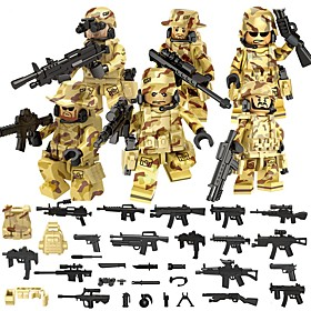 DILONG Building Blocks Military Blocks Block Minifigures