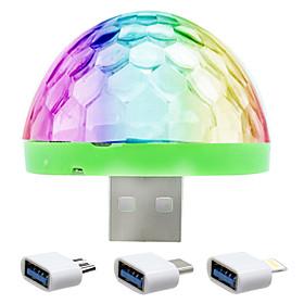 YWXLight YWXLight 5W Mobile Phone USB Stage Light DJ Lamp LED Voice Colorful Ball Mini Disco Light Sound Control