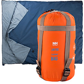 Naturehike Sleeping Bag Outdoor Single 15-5 °C Envelope / Rectangular Bag Imitation Silk Cotton Mini Rain-Proof Keep Warm Ultra Light (UL) Compression for Hunt