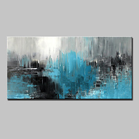 Hand-Painted Abstract Horizontal, Abstract Modern Canvas Oil Painting Home Decoration One Panel 6058714