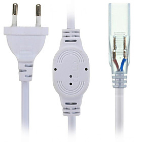 HKV US/EU Plug Socket With 2 Pins For 5630/5050 SMD LED Strip Light Bar AC220-240V