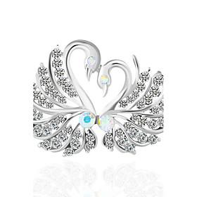 Women's Synthetic Diamond Brooches - Bird, Animal Brooch Silver For Wedding ..