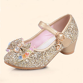 Girls' Shoes Leatherette Spring  Summer Comfort / Flower Girl Shoes Flats Sequin / Buckle for Silver / Blue / Pink / TPR (Thermoplastic Rubber)