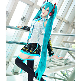 Cosplay Wigs Vocaloid Hatsune Miku Anime/ Video Games Cosplay Wigs 120 CM Heat Resistant Fiber Women's 194237