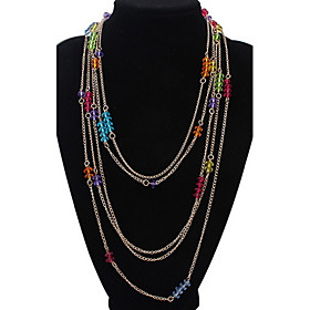 Layered Necklaces Women's  Multi-layered Colorful Vintage Rock Euramerican M..