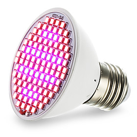 1pc 4.5 W 800-850LM E26 / E27 Growing Light Bulb 106 LED Beads SMD 2835 Red / Blue 85-265 V / 1 pc / RoHS / FCC