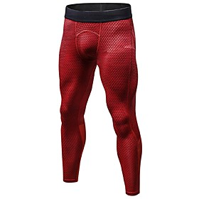 Men's Running Tights / Gym Leggings - Red, Blue, BlackGray Sports Tights Fitness, Gym, Workout Activewear Lightweight, Breathable, Fitness, Running  Yoga Stret