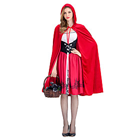 Little Red Riding Hood Cosplay Costume / Masquerade Women's Halloween / Carnival Festival / Holiday Halloween Costumes Red Other / Vintage 6177920