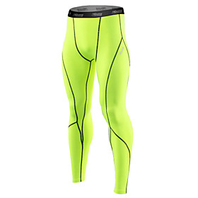 21Grams Men's Running Tights / Gym Leggings - Grey, Black / Green, WhiteGray Sports Spandex Tights / Leggings Fitness, Gym, Workout Activewear Quick Dry, Anato