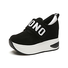 Women's Fabric Spring / Fall Comfort Sneakers Flat Heel Black / Gray / Red