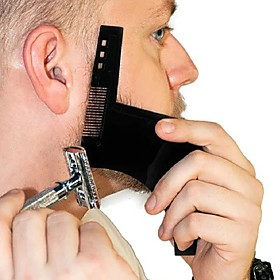 Beard haping tyling Template PLU Beard Comb All-In-One Tool Comb for Hair Beard Trim Template 6157904