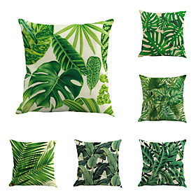 6 pcs Cotton / Linen Pillow Cover / Pillow Case, Botanical / Novelty / Classic Classical / Retro / Traditional / Classic