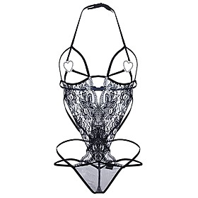 Women's Sexy Lace Lingerie Ultra Sexy Teddy NightwearSexy Lace Solid-Thin Translucent Cotton Polyester 6164478