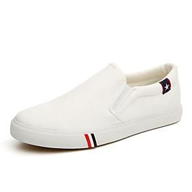 Men's Light Soles Canvas Spring / Fall Loafers  Slip-Ons White / Black / Blue / Split Joint / Outdoor / Office  Career