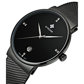 Wwoor Men's Quartz Wrist Watch Calendar / Date / Day Alloy Band Luxury Dress Watch Fashion Multi Colored