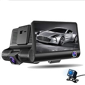 HD Car DVR 1080P Car Camera Recorder Dash Cam G-sensor Video Registrator 3 Lens Camcorder WDR Night Vision Auto DVRs Tachograph