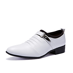 Men's Formal Shoes PU(Polyurethane) Fall / Winter British Oxfords White / Black / Party  Evening / Party  Evening / Dress Shoes / Comfort Shoes