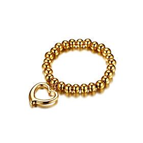Women's Chain Bracelet Love Cute  Fashion Gold Titanium Steel Heart Jewelry ..