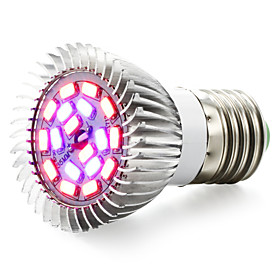 1pc 7 W 635-735LM E14 / GU10 / E26 / E27 Growing Light Bulb 18 LED Beads SMD 5730 Red / Blue 85-265 V / 1 pc / RoHS / FCC