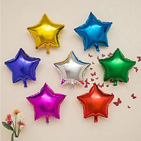 10 Piece / Set The 10-Inch Aluminium Film Balloon / 10-Inch Pentagram Aluminum Balloon Wedding Decoration Balloon 6081678