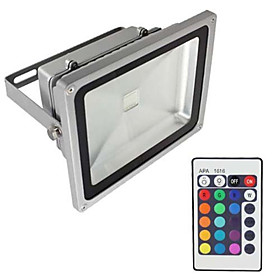 1pc 20 W Projecteurs Led / Lumieres De Pelouse Impermeable / Intensite Reglable / Decorative Rvb 85 265 V Eclairage Exterieur 1 Perles Led