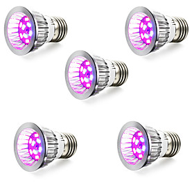 5pcs 3 W 165-190 lm E14 / GU10 / E26 / E27 Growing Light Bulb 50 LED Beads SMD 5730 Red / Blue 85-265 V / 5 pcs / RoHS / FCC