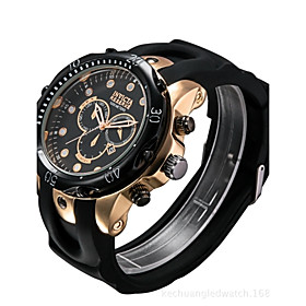 Men's Quartz Digital Watch Military Watch Sport Watch Chinese Calendar / date / day Water Resistant / Water Proof Large Dial Imitation