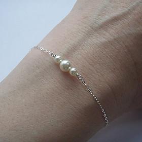 Women's Pearl Chain Bracelet Charm Bracelet - Bracelet Silver / Golden For Party Daily Casual