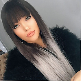 Synthetic Wig Straight Capless Natural Wigs Medium Synthetic Hair 6129821