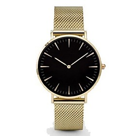 Men's Wrist Watch Quartz Casual Watch Band Analog Charm Casual Fashion Black / Silver / Gold - Rose Gold Gold / White White / Gold One Year Battery Life