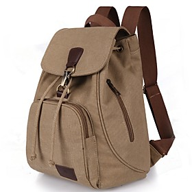 Women's Bags Canvas Backpack for Casual Traveling Outdoor All Seasons Blue Black Coffee 6155557
