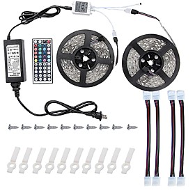 10m Light Sets 600 Leds 5050 Smd Rgb Remote Control / Rc / Cuttable / Dimmable 100 240 V / Linkable / Self Adhesive / Color Changing / Ip44
