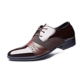 Men's Formal Shoes PU(Polyurethane) Spring / Fall Business Oxfords Walking Shoes Black / Brown / Wedding / Party  Evening