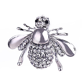 Women's Crystal Brooches Silver Plated Gold Plated Bee Animal Ladies Classic..