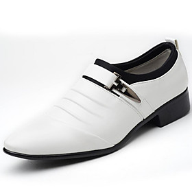 Men's Formal Shoes PU(Polyurethane) Spring / Fall Business Loafers  Slip-Ons White / Black / Brown