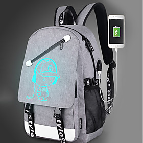 Bags Canvas Backpack Zipper for Outdoor Black / Gray 6245304