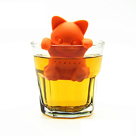 Cartoon Cat Tea Strainer Silicone Tea Infuser Cute Kitten Tea Tools