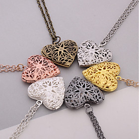 Women's Pendants Jewelry Heart Silver Plated Heart Handmade Jewelry For Dail..