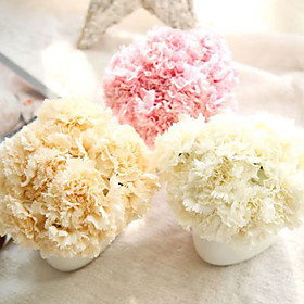 6 Branch Others Real touch Carnation Tabletop Flower Artificial Flowers