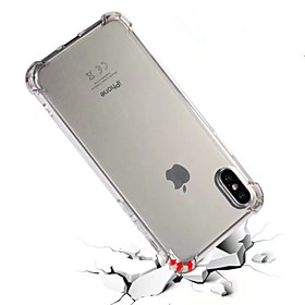 For iPhone X iPhone 8 iPhone 8 Plus Case Cover Shockproof Translucent Back Cover Case Solid Color Soft TPU for Apple iPhone X iPhone 8