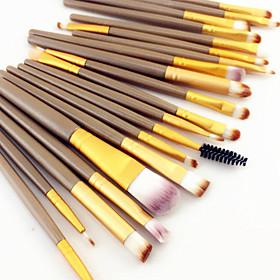 20PCS Pro Eyeshadow Makeup Brush Set Powder Foundation Eyeliner Concealer Lip Eyebrow Mascara Cosmetic Brush Set 3 Color 6258593