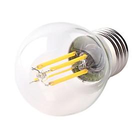 1pc 4 W 360 lm E26 / E27 LED Filament Bulbs G45 4 LED Beads COB Dimmable LED Light Decorative Warm White 220-240 V / RoHS