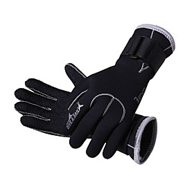 Diving Gloves 3mm Neoprene Full finger Gloves Durable, Protective, Stretchy Diving / Boating / Kayaking