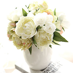 Artificial Flowers 8pcs Branch Others Real touch Peonies Tabletop Flower